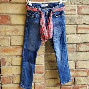 EUC Girl's Zara Distressed Denim Jeans sz 4-5Y